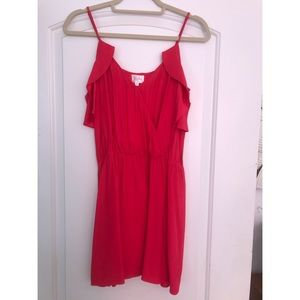 Red Silk Parker Dress